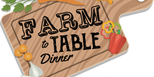 Farm to Table Dinner cutting board art