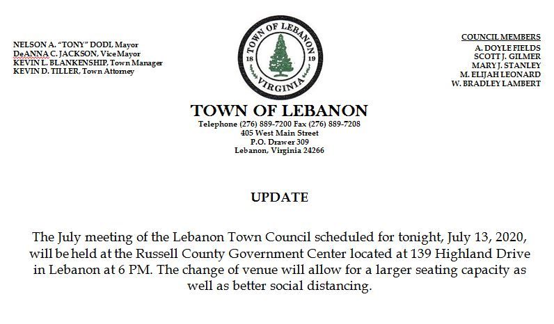 UPDATE: Lebanon Town Council Meeting Being Held at the Russell