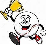 Cartoon baseball w trophy