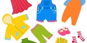 clip art of children's clothes